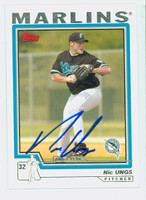 Nic Ungs AUTOGRAPH 2004 Topps Marlins 