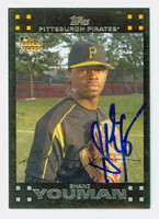 Shane Youman AUTOGRAPH 2007 Topps Pirates 