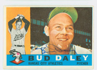 Bud Daley AUTOGRAPH 1960 Topps #8 Athletics CARD IS VG, CLEAN SIG