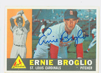 Ernie Broglio AUTOGRAPH 1960 Topps #16 Cardinals CARD IS EX, CLEAN SIG