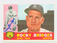 Rocky Bridges AUTOGRAPH d.15 1960 Topps #22 Tigers CARD IS VG/EX, CLEAN SIG
