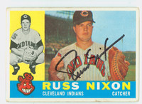 Russ Nixon AUTOGRAPH 1960 Topps #36 Indians CARD IS G-VG, CLEAN SIG