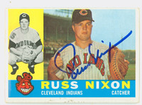 Russ Nixon AUTOGRAPH 1960 Topps #36 Indians CARD IS VG/EX, CLEAN SIG
