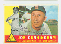 Joe Cunningham AUTOGRAPH 1960 Topps #40 Cardinals CARD IS VG, AUTO CLEAN