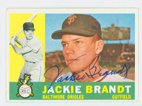 Jackie Brandt AUTOGRAPH 1960 Topps #53 Orioles CARD IS VG/EX, CLEAN SIG