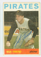 Bob Friend AUTOGRAPH 1964 Topps #20 Pirates 