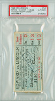 1928 Howard Bison College Football Ticket Stub vs Lincoln - Nov 29, 1928 PSA/DNA Authentic