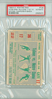 1949 Notre Dame Fighting Irish College Football Ticket Stub vs Tulane - Oct 15, 1949 PSA/DNA Authentic