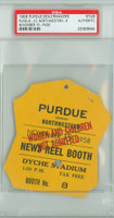 1958 Purdue Boilermakers College Football Ticket PASS vs Northwestern - Nov 15, 1958 PSA/DNA Authentic