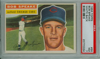 1956 Topps Baseball 66 Bob Speake Chicago Cubs PSA 7 Near Mint White Back
