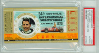1970 Indianapolis 500 Ticket Stub - Al Unser May 30 1970 PSA/DNA Authentic