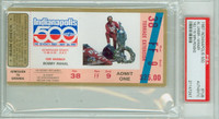 1987 Indianapolis 500 Ticket Stub - Al Unser May 24 1987 (His 4th and final Win) PSA/DNA Authentic