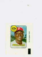 1969 Topps Decals 2 Richie Allen Philadelphia Phillies Very Good to Excellent