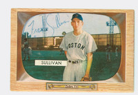 Frank Sullivan AUTOGRAPH 1955 Bowman #15 Red Sox ROOKIE CARD IS CLEAN EX
