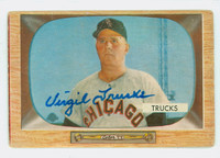 Virgil Trucks AUTOGRAPH d.13 1955 Bowman #26 White Sox CARD IS F/P; HEAVY CREASES