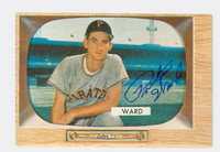Preston Ward AUTOGRAPH d.13 1955 Bowman #27 Pirates CARD IS G/VG; SURF CREASE, AUTO CLEAN