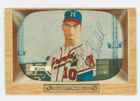 Bob Buhl AUTOGRAPH d.01 1955 Bowman #43 Braves CARD IS CLEAN VG