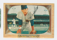 Tom Umphlett AUTOGRAPH d.12 1955 Bowman #45 Senators CARD IS CLEAN VG