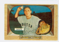 Sammy White AUTOGRAPH d.91 1955 Bowman #47 Red Sox CARD IS CLEAN VG