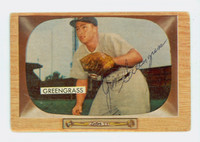 Jim Greengrass AUTOGRAPH 1955 Bowman #49 Reds CARD IS G/VG; AUTO CLEAN
