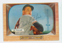 Paul Lapalme AUTOGRAPH d.10 1955 Bowman #61 Cardinals CARD IS F/G; BRUISE, AUTO CLEAN