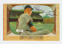 Royce Lint AUTOGRAPH d.06 1955 Bowman #62 Cardinals CARD IS VG; AUTO CLEAN