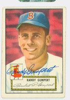 Randy Gumpert AUTOGRAPH d.08 1952 Topps #247 Red Sox CARD IS VG; AUTO CLEAN