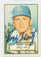 Bobby Shantz AUTOGRAPH 1952 Topps #219 Athletics  CARD IS VG; AUTO CLEAN
