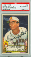 Duane Pillette AUTOGRAPH d.11 1952 Topps #82 Browns PSA/DNA 