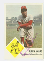 Ruben Amaro AUTOGRAPH 1963 Fleer #50 Phillies CARD IS CLEAN VG