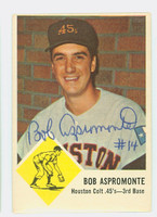 Bob Aspromonte AUTOGRAPH 1963 Fleer #37 Colts CARD IS CLEAN VG/EX