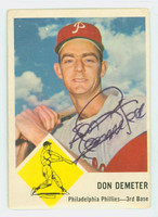 Don Demeter AUTOGRAPH 1963 Fleer #53 Phillies CARD IS VG; AUTO CLEAN