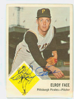 Elroy Face AUTOGRAPH 1963 Fleer #57 Pirates CARD IS VG; AUTO CLEAN