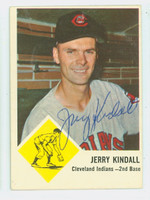 Jerry Kindall AUTOGRAPH 1963 Fleer #13 Indians CARD IS CLEAN EX