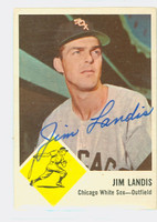 Jim Landis AUTOGRAPH 1963 Fleer #10 White Sox CARD IS F/G; CREASE, AUTO CLEAN