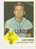 Albie Pearson AUTOGRAPH 1963 Fleer #19 Angels CARD IS CLEAN VG