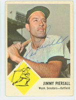 Jimmy Piersall AUTOGRAPH 1963 Fleer #29 Senators CARD IS CLEAN VG