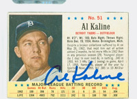 Al Kaline AUTOGRAPH 1963 Post #51 Tigers CARD IS CLEAN EX