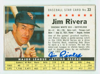 Jim Rivera AUTOGRAPH 1961 Post #33 White Sox BOX CARD IS CLEAN EX