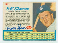 Bill Skowron AUTOGRAPH d.12 1962 Post #1 Yankees CARD IS CLEAN EX