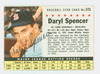 Daryl Spencer AUTOGRAPH 1961 Post #173 Cardinals BOX CARD IS VG; AUTO CLEAN  [SKU:SpenD2931_PO61BBVacpl]