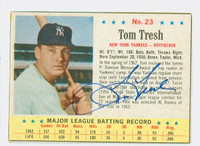 Tom Tresh AUTOGRAPH d.08 1963 Post #23 Yankees CARD IS CLEAN EX