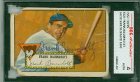 Frank Baumholtz AUTOGRAPH d.97 1952 Topps #225 Cubs SGC/JSA Card is poor, crn tears, creases