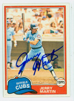 Jerry Martin AUTOGRAPH 1981 Topps Cubs 