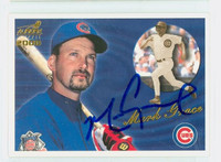 Mark Grace AUTOGRAPH 2000 Pacific Cubs 