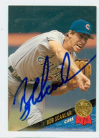 Bob Scanlan AUTOGRAPH 1993 Leaf Cubs 