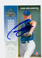 Todd Wellemeyer AUTOGRAPH 2003 Donruss Cubs 