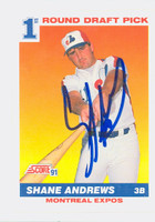Shane Andrews AUTOGRAPH 1991 Score Expos 