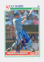 Sean Barry AUTOGRAPH 1991 Score Royals 