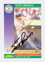 Scott Brosius AUTOGRAPH 1992 Score Athletics 